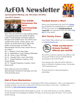 AzFOA Newsletter