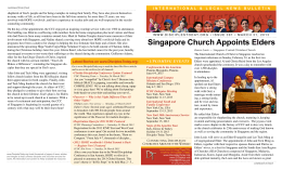 singapore church appoints elders