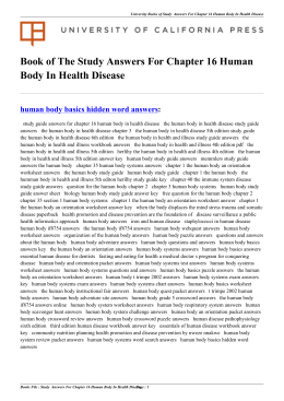 Study Answers For Chapter 16 Human Body In Health Disease
