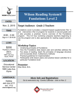 Wilson Reading System® Fundations Level 2