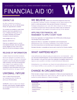 UW Financial Aid 101 Handout
