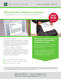 Microsoft® Word Stationery Templates - ALL