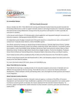 Second Cycle of CAP Grant Awards