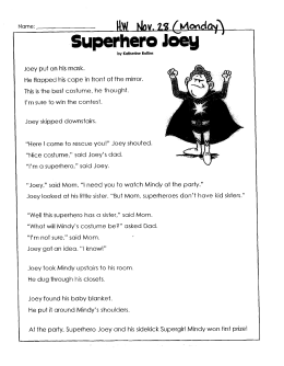Superhero - Teacherpage