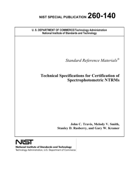 NIST Special Publication 260-140 - National Institute of Standards