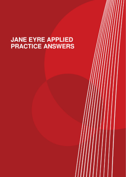 JANE EYRE APPLIED PRACTICE ANSWERS
