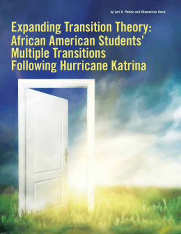 expanding transition theory: African American students