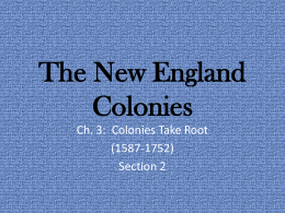 The New England Colonies - Magoffin County Schools