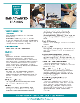 EMS Advanced Fact Sheet