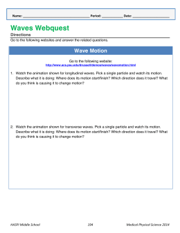 Waves Webquest