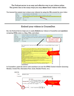 Embed your videos in CourseDen