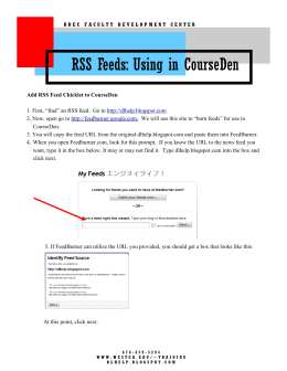 RSS Feeds: Using in CourseDen