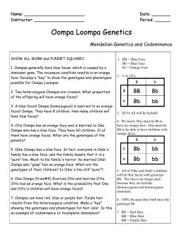 Population genetics worksheet answer key