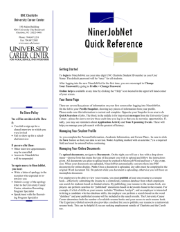 Quick Reference-FT - University Career Center