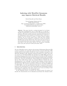 Indexing with WordNet Synonyms may improve Retrieval Results