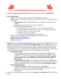 PreK-12 Notification Parent Portal Usage Instructions