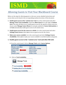 Allowing Guests to Visit Your Blackboard Course