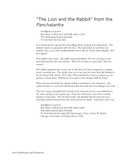 """The Lion and the Rabbit"" from the Panchatantra"
