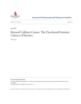 The Decolonial Feminist Literacy of Sycorax