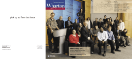 Marketing 100 - Wharton Magazine