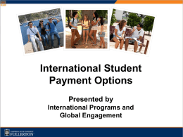 International Student Payment Options