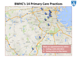 BWHC`s 15 Primary Care Practices