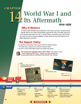 Chapter 14: World War I and Its Aftermath, 1914-1920