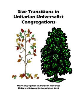 Size Transitions in UU Congregations update2