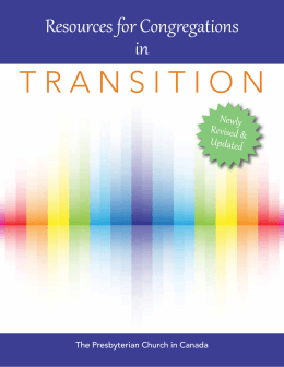 transition - The Presbyterian Church in Canada