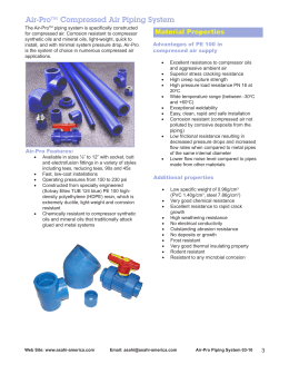 Air-Pro™ Compressed Air Piping System