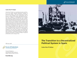 The Transition to a Decentralized Political System in Spain