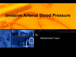 Invasive Arterial Blood Pressure