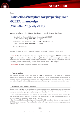 Instructions/template for preparing your NOLTA manuscript (Ver