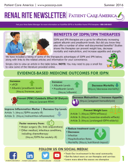 Renal Rite Newsletter - Patient Care America