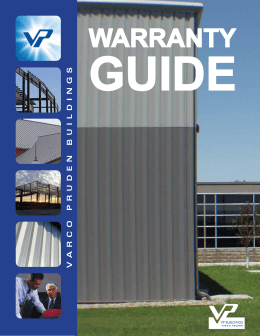 Varco Pruden Warranty Guide
