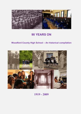 Historic Compilation - Woodford County High School For Girls