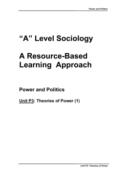 Power and Politics - Sociology Central
