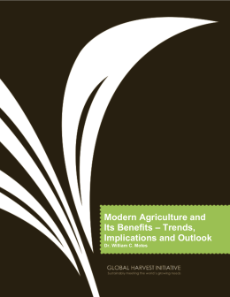 Modern Agriculture and Its Benefits