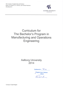 (BSc) in Engineering (Manufacturing and Operations Engineering)