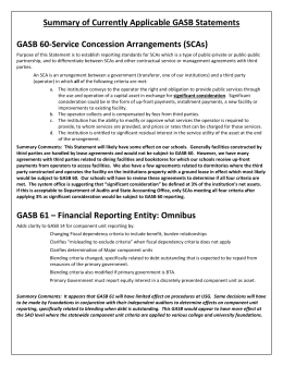 GASB Summary Update Statements 60