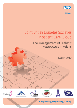 The Management of Diabetic Ketoacidosis in Adults