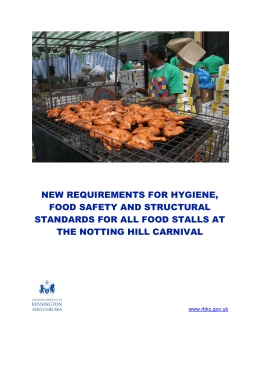 NEW REQUIREMENTS FOR HYGIENE, FOOD SAFETY AND