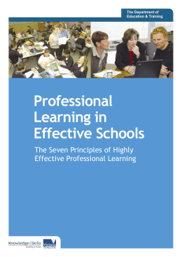 The Seven Principles of Highly Effective Professional Learning