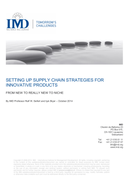 setting up supply chain strategies for innovative products
