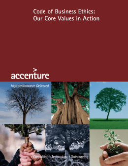 Accenture Code of Business Ethics 2011