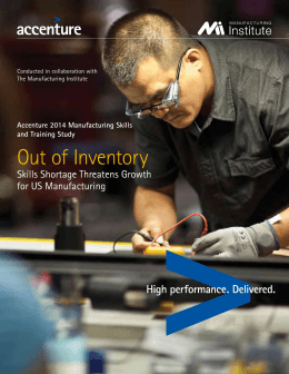 Out of Inventory - The Manufacturing Institute