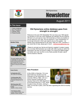 Newsletter - Old Hymerians