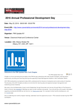 2016 Annual Professional Development Day