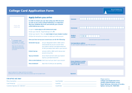 College Card Application Form