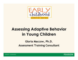 Assessing Adaptive Behavior in Young Children
